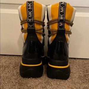 Women's Black Zadie Mixed-media Moon Boot